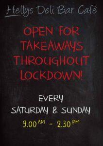 Hellys open for takeaways throughout lockdown